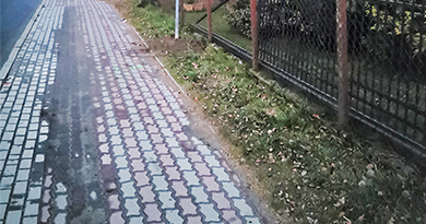 Naprawa chodnika w Pradze i Borysewie